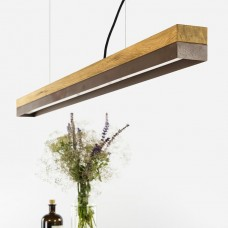 Corten Steel and Oak Pendant Light 122 [C1o]